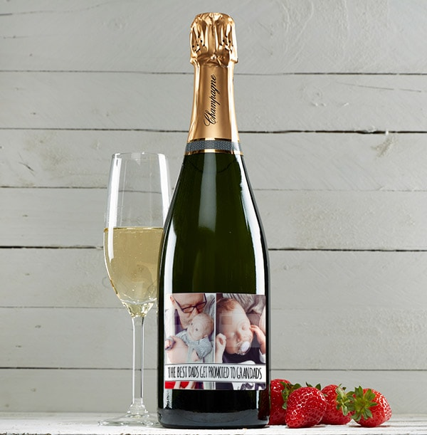 Personalised Champagne Brut Multi Photo & Text
