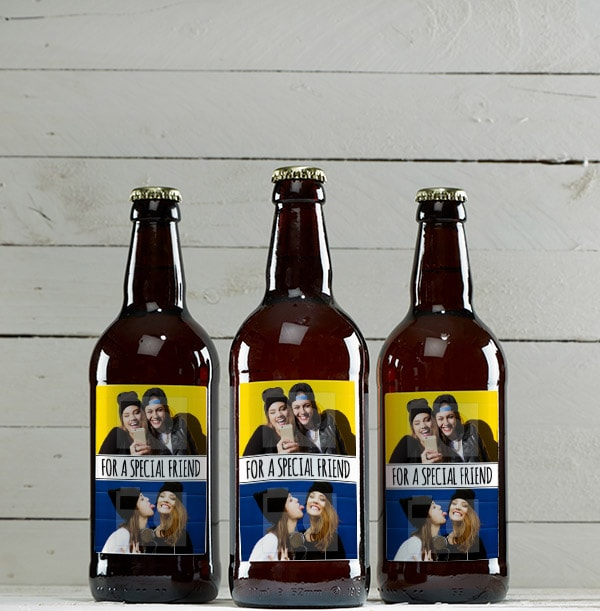 Personalised Cider Multi Pack Double Photo & Text