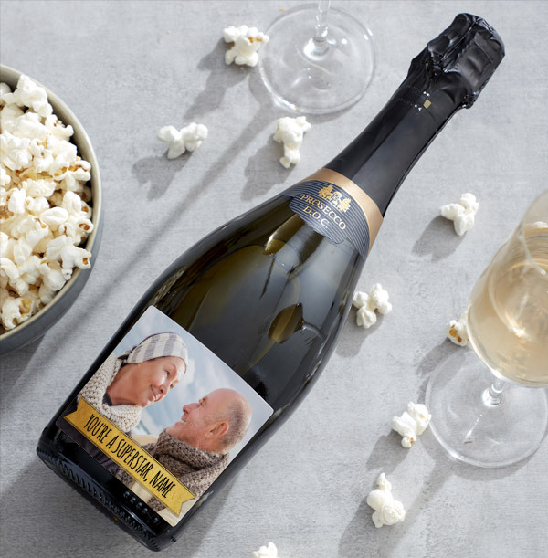 Personalised Prosecco With Photo & Text
