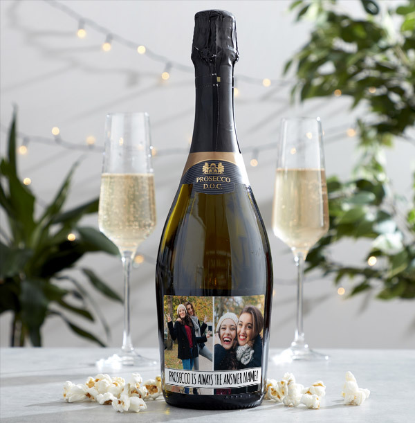 Personalised Prosecco With Multi Photo Upload & Text