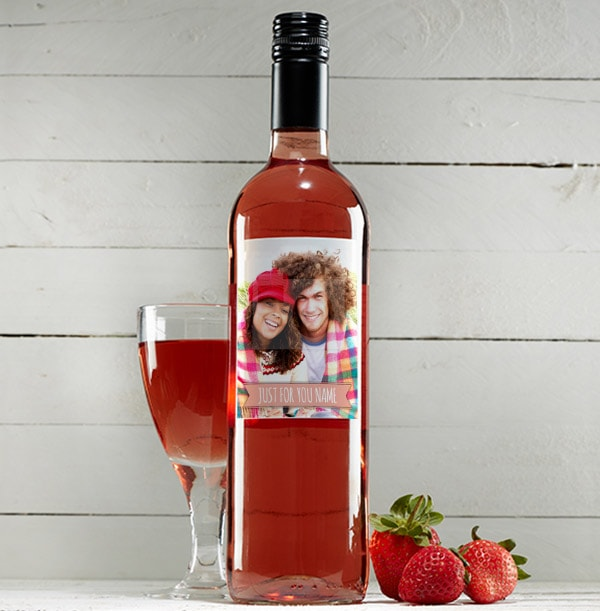 Photo & Banner Personalised Rosé Wine