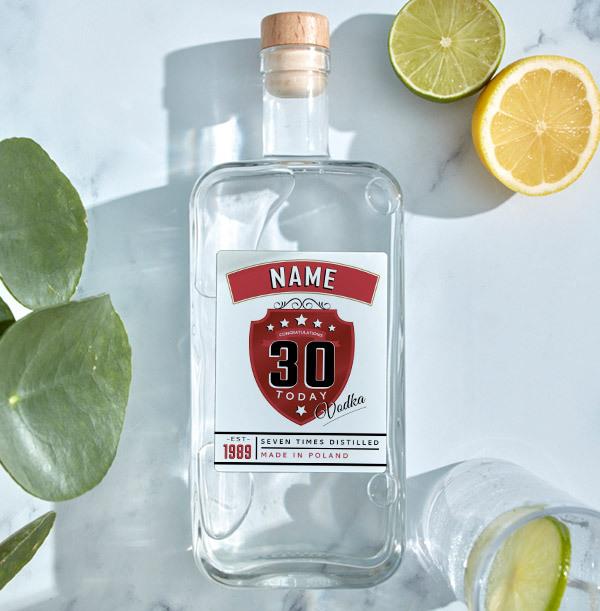 Personalised Birthday Vodka Bottle