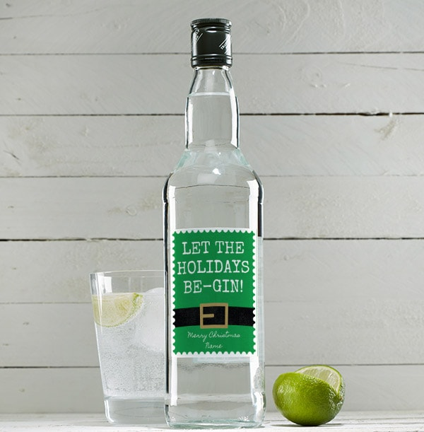 Be-Gin Christmas Personalised London Dry Gin