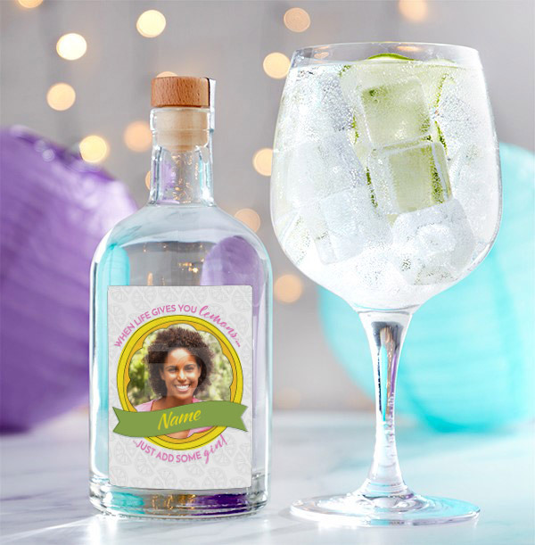 Personalised London Dry Gin with Photo