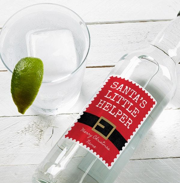 Personalised Christmas London Dry Gin - Santa's Helper
