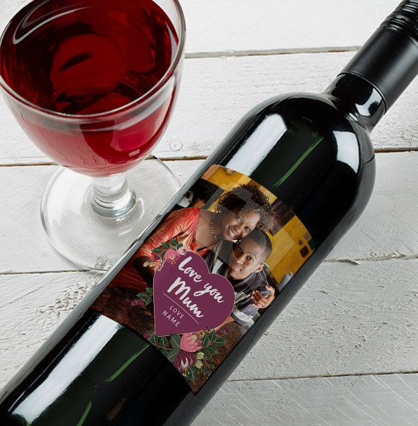 Love You Mum Personalised Red Wine