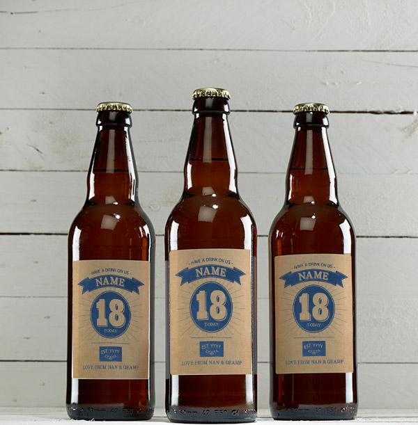 18th Birthday Personalised Beer - Multi Pack
