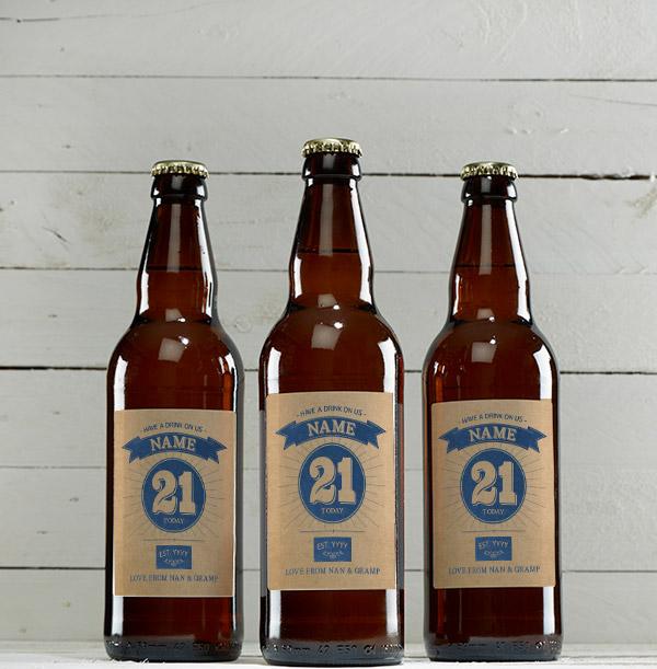 21st Birthday Personalised Beer - Multi Pack