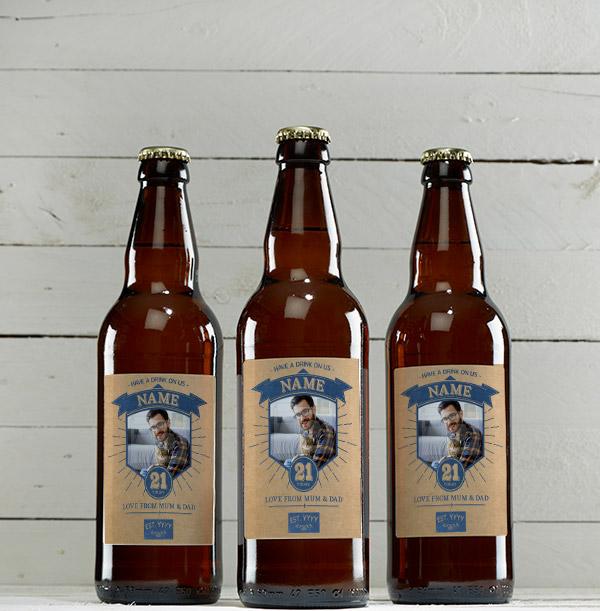 21st Birthday Photo Beer - Multi Pack
