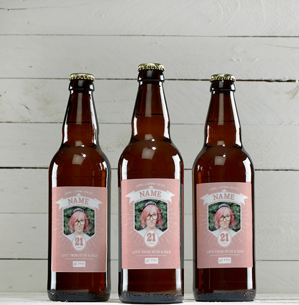 21 Today Pink Photo Beer - Multi Pack