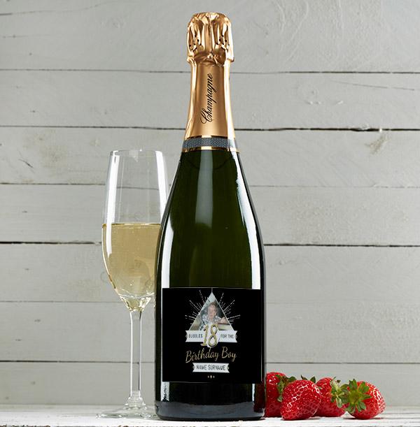 Personalised 18th Birthday Champagne Brut - Photo Upload