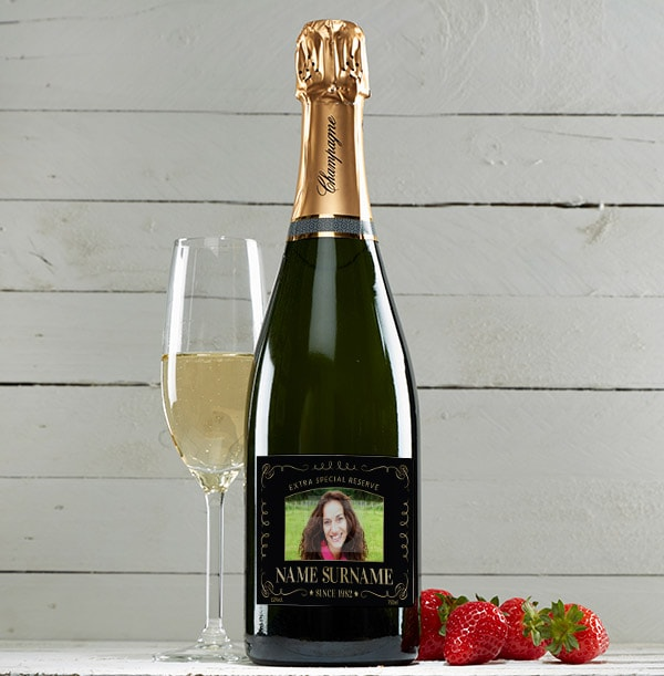 Personalised Champagne Brut with Photo