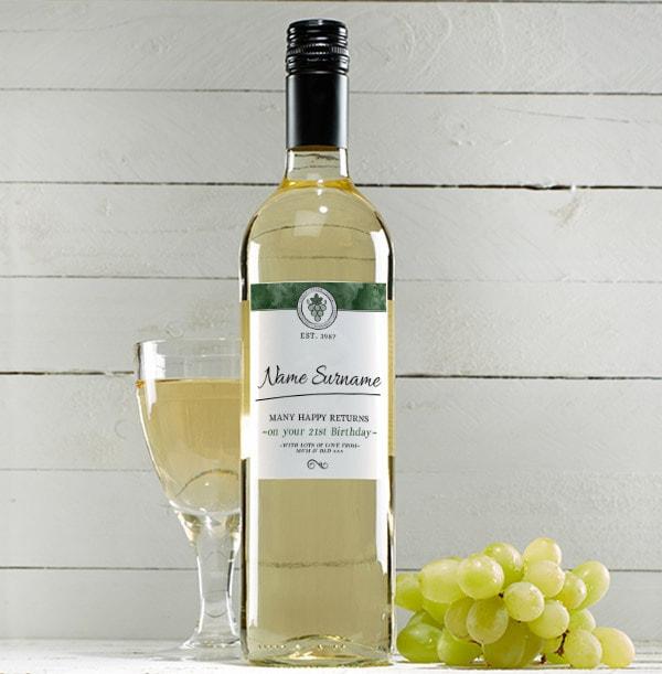 Personalised Birthday White Wine Bottle - Sauvignon Blanc