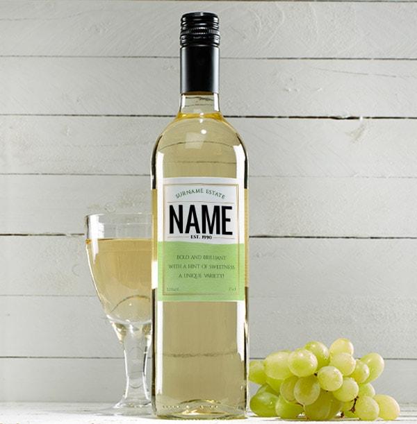 Personalised White Wine Bottle - Sauvignon Blanc