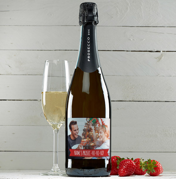 Christmas Personalised Prosecco