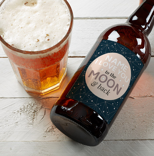 To The Moon & Back Personalised Multi Pack Of Beer