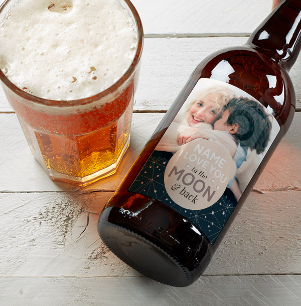 To The Moon & Back Personalised Photo Multi Pack Of Beer