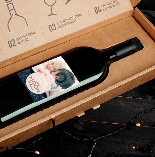 Cute 'To the Stars' Photo Letterbox Wine - Tempranillo