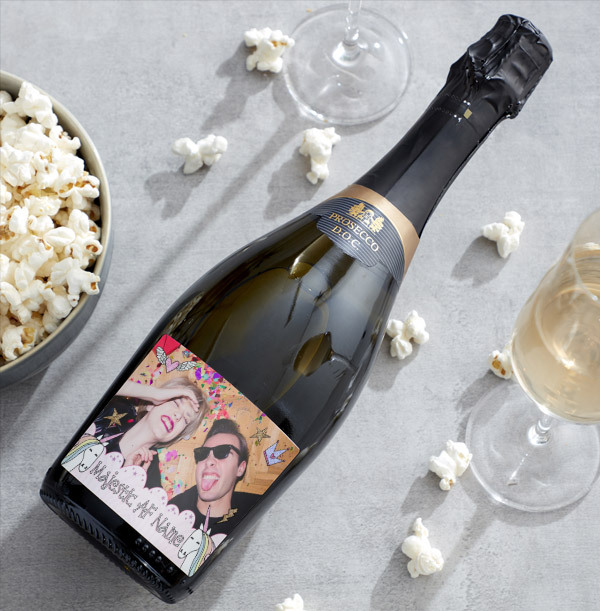 Majestic AF Personalised Photo Prosecco