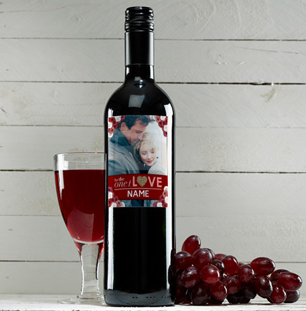 One I Love Red Wine Photo Wine Bottle