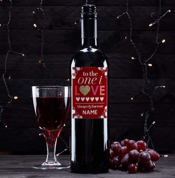 One I Love Red Wine Personalised Bottle