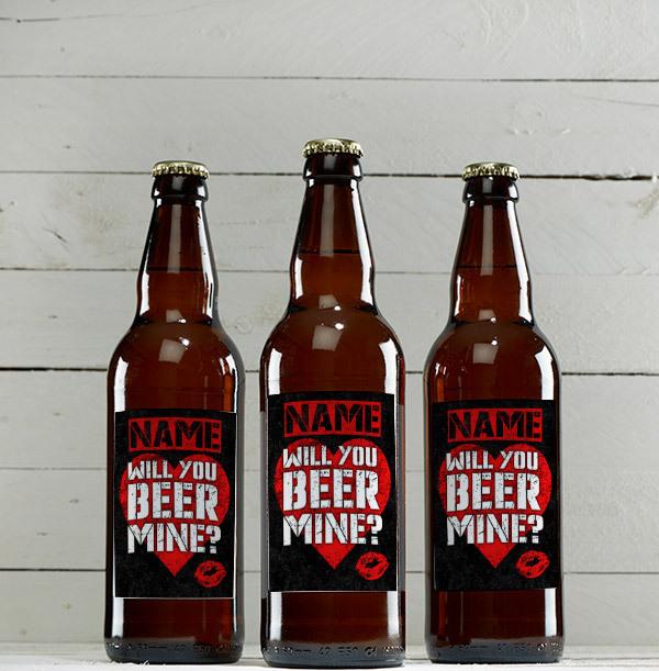 Will You Beer Mine Personalised Beer - Multi Pack