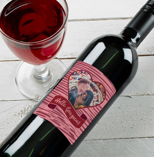 Hello Gorgeous Personalised Red Wine - Photo Upload