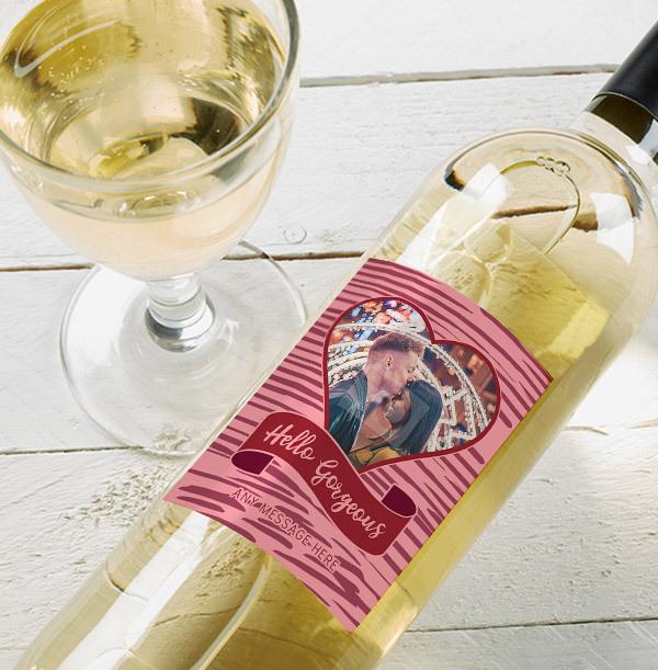 Hello Gorgeous Personalised Sauvignon Blanc - Photo Upload