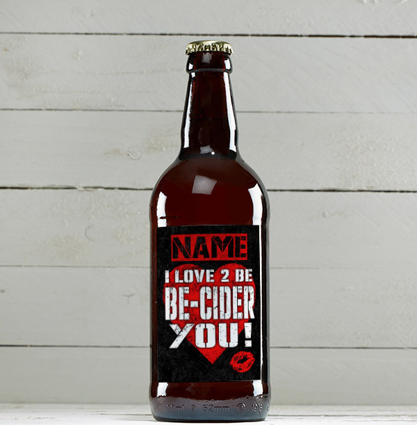 I Love To Be Be-Cider You Personalised Cider - Multi Pack