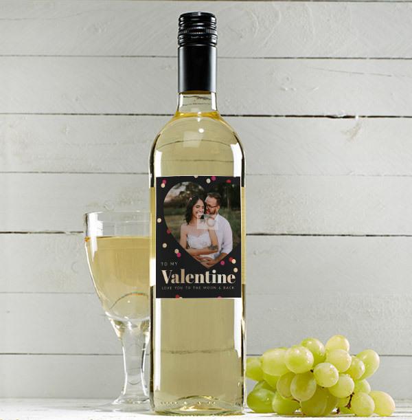 To My Valentine Personalised Sauvignon Blanc - Photo Upload
