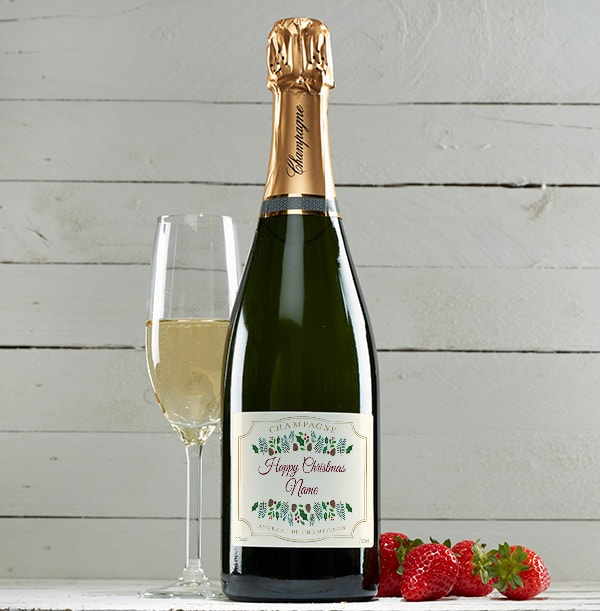 Happy Christmas Champagne Brut - Personalised