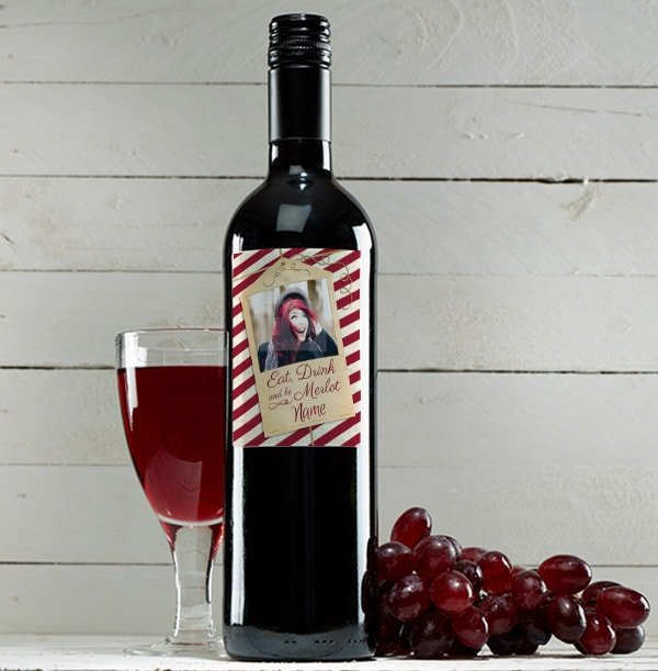 Photo Upload Christmas Red Wine