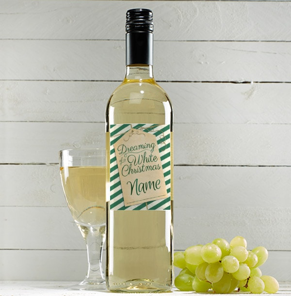 Personalised Christmas Sauvignon Blanc Wine