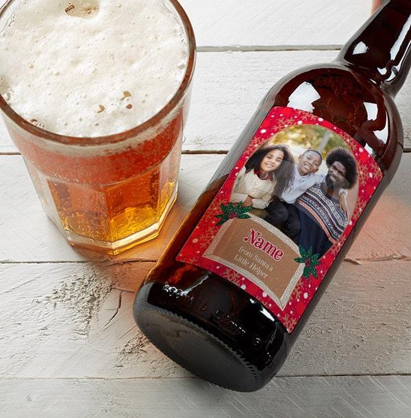 Christmas Stupid Cupid Personalised Photo Upload Beer -  Multi Pack