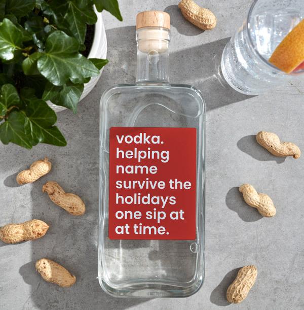Christmas One Sip Personalised Vodka