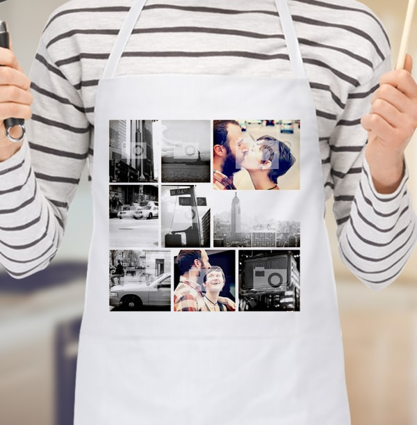 9 Photo Collage Personalised Apron