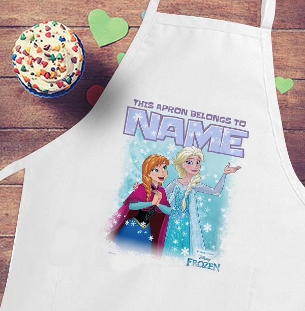 Anna & Elsa Personalised Kid's Apron - Disney Frozen