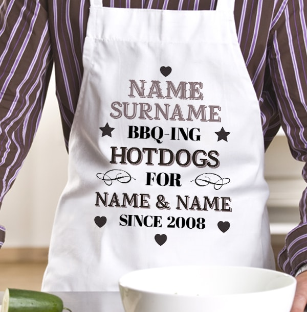 BBQ-ing Hotdogs Personalised Apron