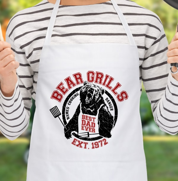 Bear Grills Personalised Apron - Best Dad Ever