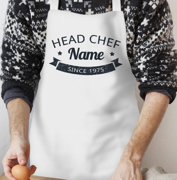 Head Chef Personalised Apron