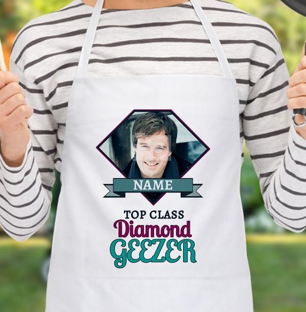 Diamond Geezer Personalised Apron