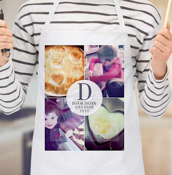D Is For Daddy Photo Upload Apron