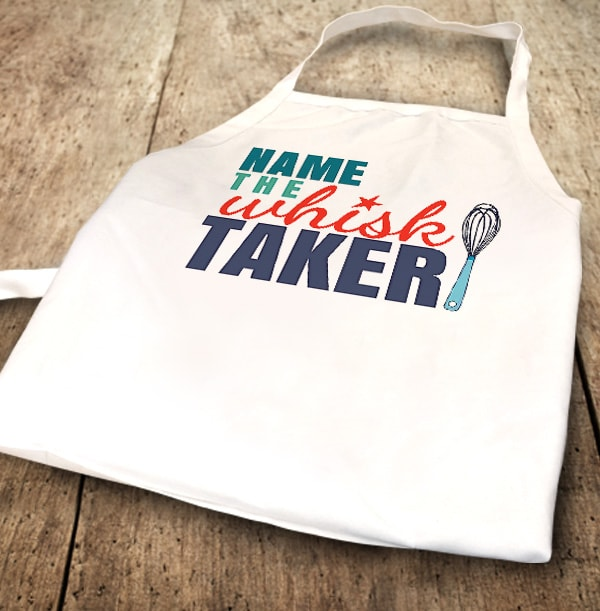 ZDISC The Whisk Taker Personalised Apron