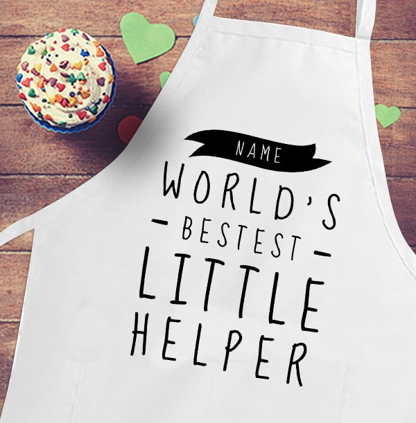 Bestest Little Helper Kid's Personalised Apron