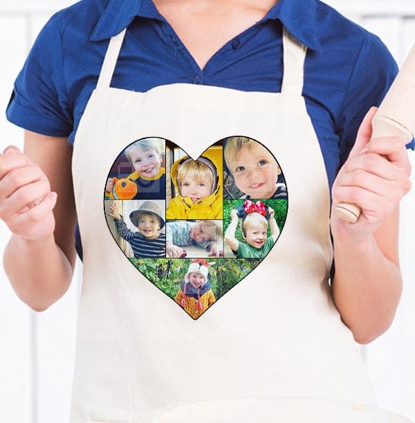 Heart Photo Collage Apron