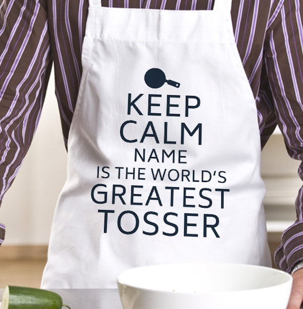 Keep Calm Greatest Tosser Personalised Apron