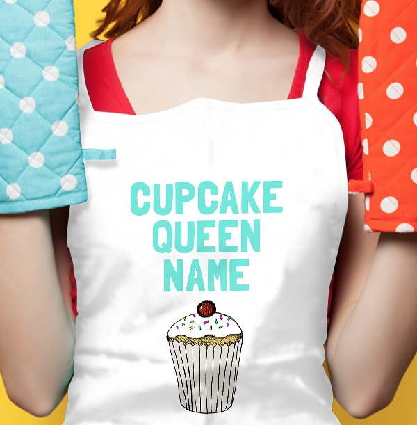Cupcake Queen Personalised Apron