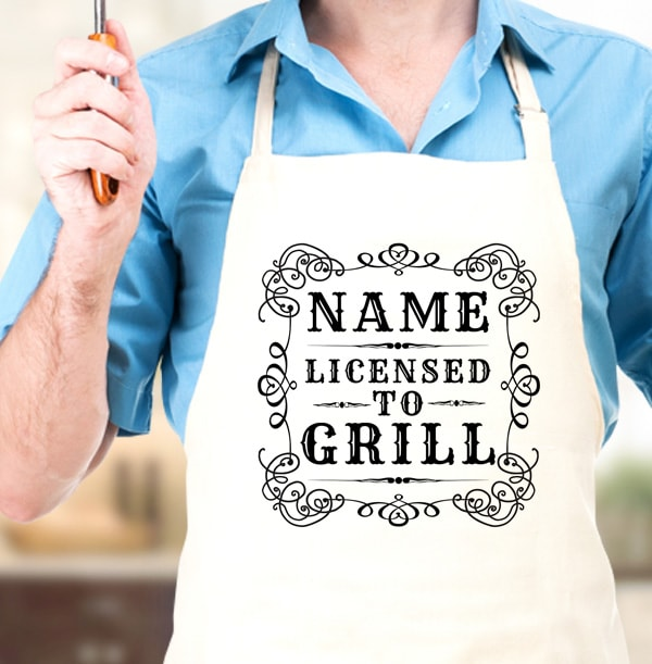 Licensed To Grill Personalised Apron