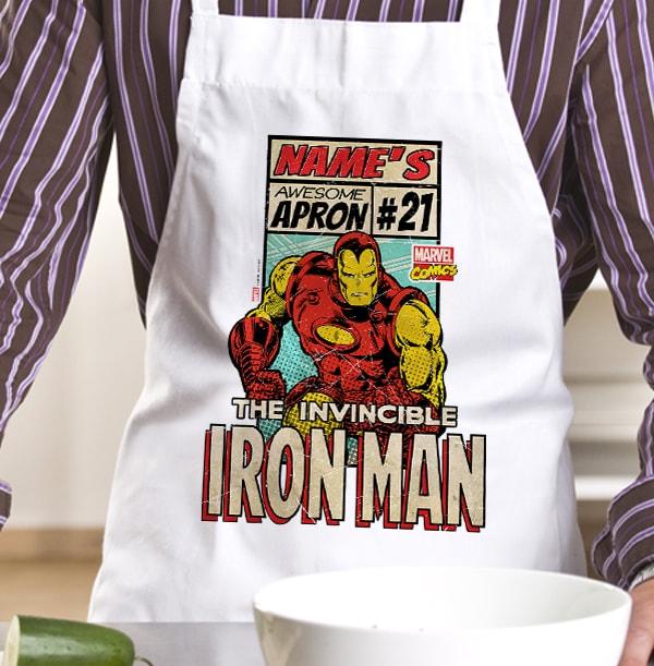 Invincible Iron Man Personalised Apron
