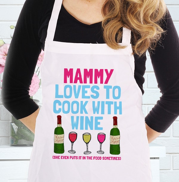 Cooking With Wine Personalised Apron